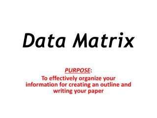 Data Matrix