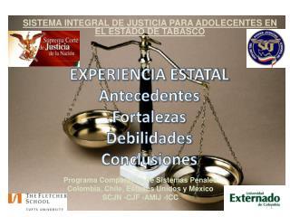 EXPERIENCIA ESTATAL Antecedentes Fortalezas Debilidades Conclusiones