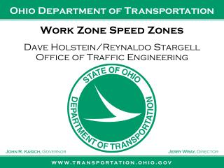 Work Zone Speed Zones