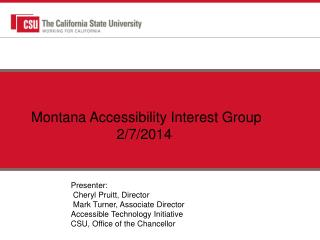 Montana Accessibility Interest  Group 2/7/2014