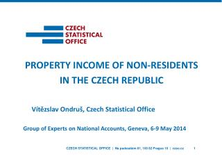 property income of non-residents in the Czech Republic