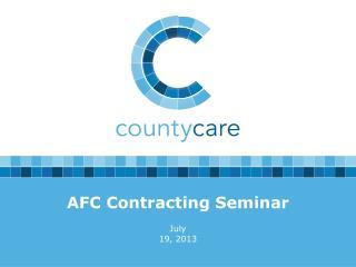 AFC Contracting Seminar