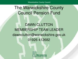 The Warwickshire County Council Pension Fund