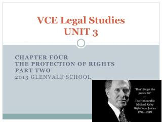 VCE Legal Studies UNIT 3