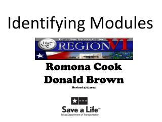 Identifying Modules