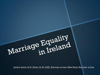 Marriage Equality  in  I reland