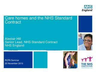 Care homes and the NHS Standard Contract