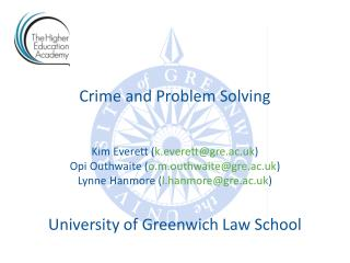 Crime  and Problem Solving
