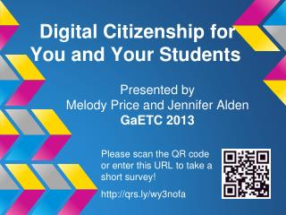 Digital Citizenship for You and Your Students