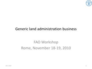Generic land administration business
