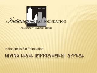 Giving Level Improvement Appeal