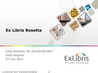 Ex Libris Rosetta
