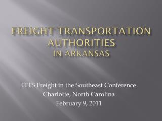 Freight Transportation Authorities In Arkansas