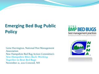 Emerging Bed Bug Public Policy