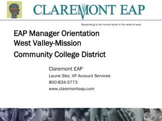EAP Manager Orientation West Valley-Mission  Community College District