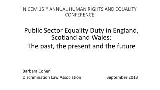 NICEM 15 TH  ANNUAL HUMAN RIGHTS AND EQUALITY CONFERENCE
