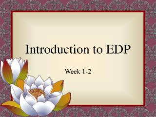 introduction to edp