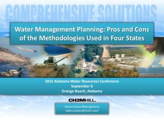 Water Management Planning: Pros and Cons of the Methodologies Used in Four States