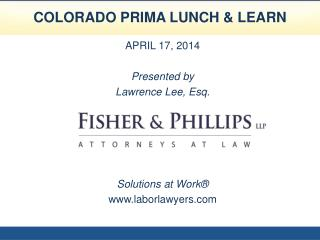 COLORADO PRIMA LUNCH & LEARN