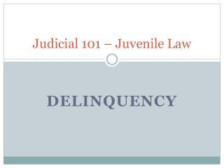 Judicial 101 � Juvenile Law