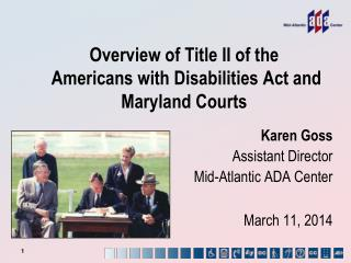 Overview of Title II of the  Americans with Disabilities Act and Maryland Courts