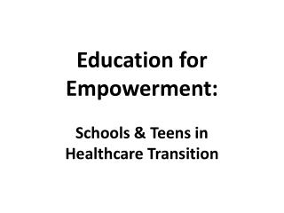Education for Empowerment: