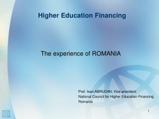 Higher Education Financing