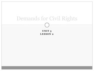 Demands for Civil Rights