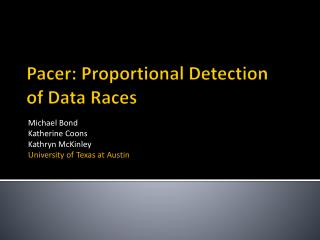 Pacer: Proportional Detection of Data Races