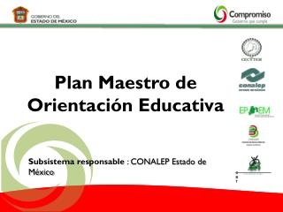 Plan Maestro de Orientación Educativa