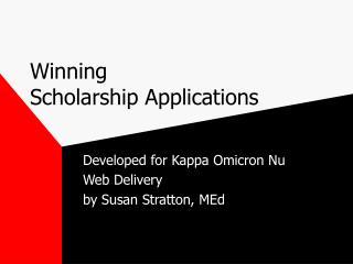 winning  scholarship applications