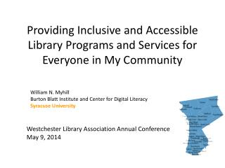 Providing Inclusive and Accessible Library Programs and Services for Everyone in My Community