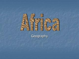 frica Geography