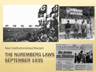 The Nuremberg Laws  September 1935