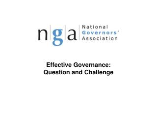 Effective Governance: Question and Challenge