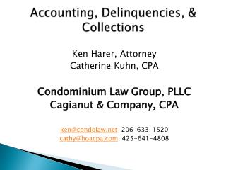 Accounting, Delinquencies, & Collections
