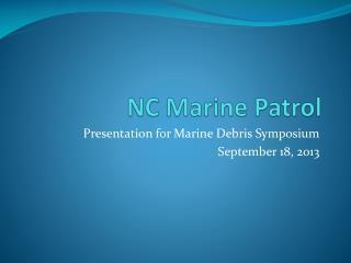 NC Marine Patrol