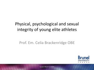 Physical, psychological and sexual integrity of young elite athletes
