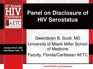 Panel on Disclosure of HIV Serostatus