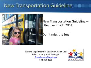 New Transportation Guideline