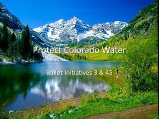 Protect Colorado Water