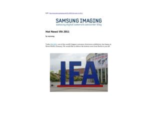 hot news! ifa 2011