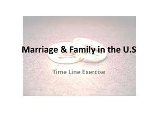 Marriage & Family in the U.S