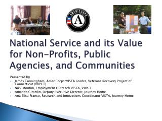 National Service and its Value for  Non-Profits,  Public  Agencies, and Communities