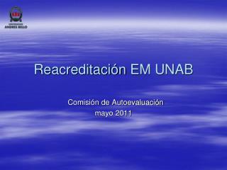 Reacreditación EM UNAB
