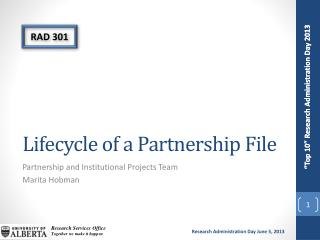 Lifecycle of a Partnership File