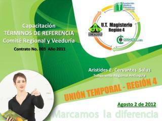Capacitación TÉRMINOS DE REFERENCIA Comité Regional y Veeduría