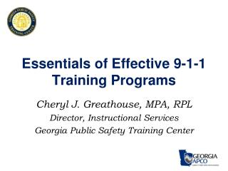 Essentials of Effective 9-1-1 Training Programs
