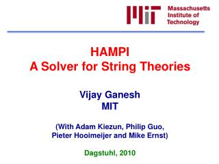 HAMPI A Solver  for String Theories