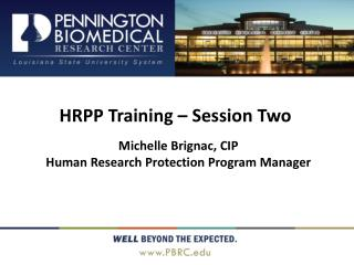 HRPP Training – Session Two